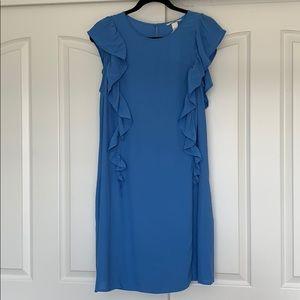 H&M Light Blue Side Riffled Dress